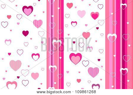 Background abstract pattern seamless  pink heart vector