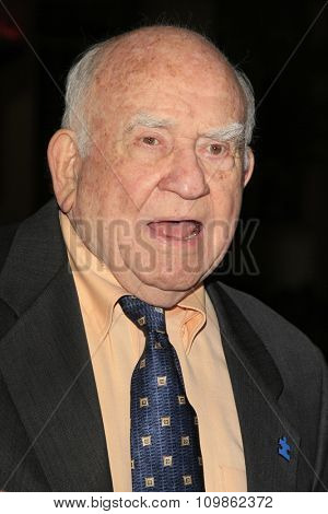 LOS ANGELES - FEB 15:  Ed Asner at the Make-Up Artists And Hair Stylists Guild Awards 2014 at the Paramount Theater on February 15, 2014 in Los Angeles, CA