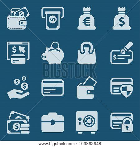 Money Iconset Blue