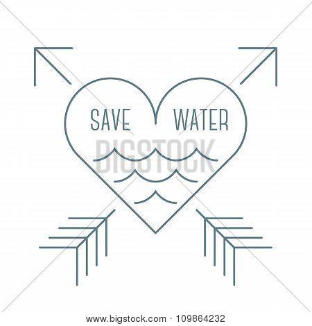 Save water symbol