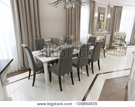 Luxury Dining Classical Style