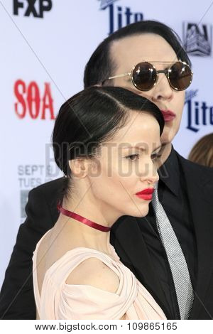 LOS ANGELES - SEP 6:  Lindsay Usich, Marilyn Manson at the