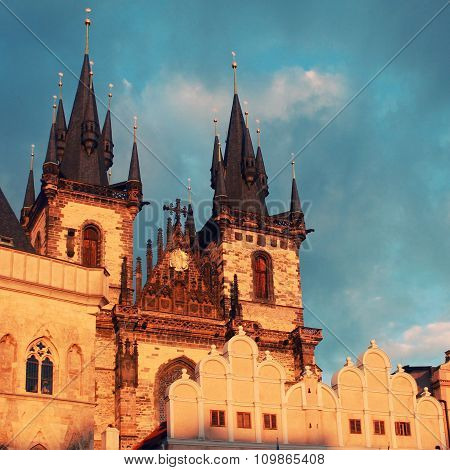 Church Of Our Lady In Front Of Tyn, Prague, Czech Republic.