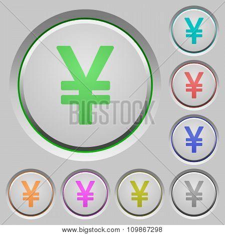 Yen Sign Push Buttons