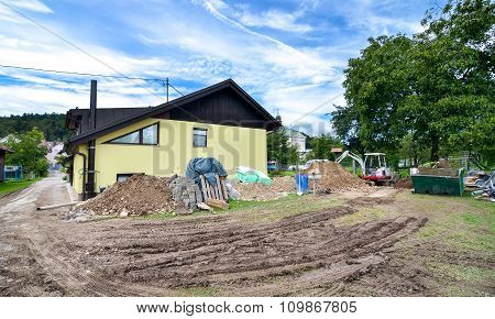 Rebuilding A House And Adding An Extension. Construction Site
