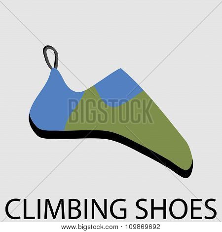 Climbing Shoes Icon Flat Design