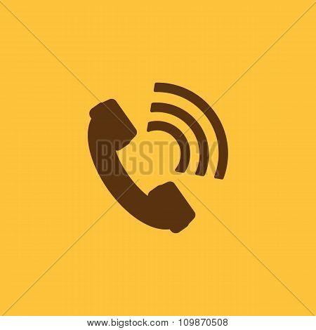 The phone icon. Phone symbol. Flat
