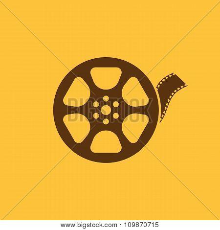 The video icon. Movie symbol. Flat