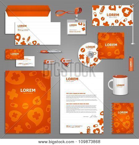 Medical Stationery Template Design