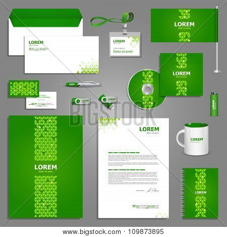 Green Stationery Template Design