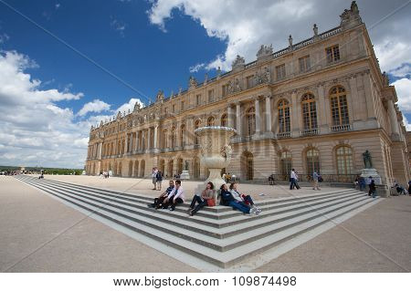 Palace Versailles Was A Royal Chateau.