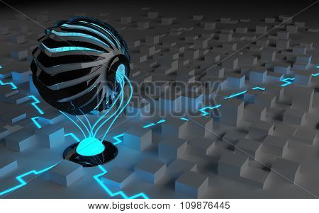 A robot with internal technology
