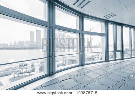 empty office room in modern office buildings