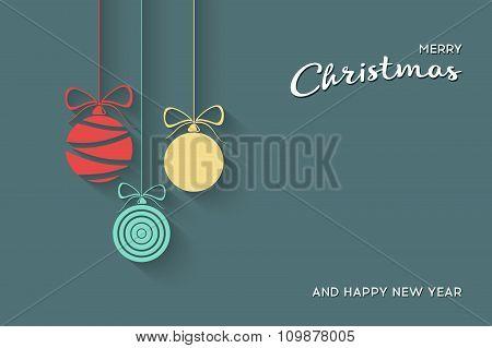 Vector Flat Christmas Balls