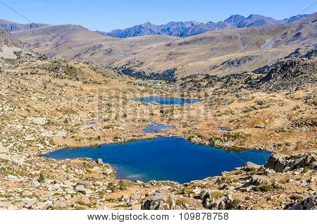 View Of The Lakes In The Lake Pessons, Andorra