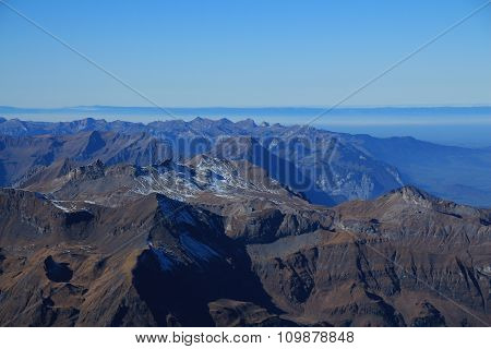 Mountain Ranges In The Bernese Oberland