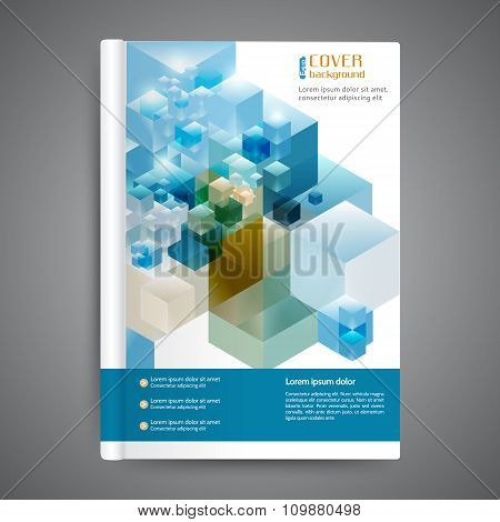 Abstract Template Cover Book