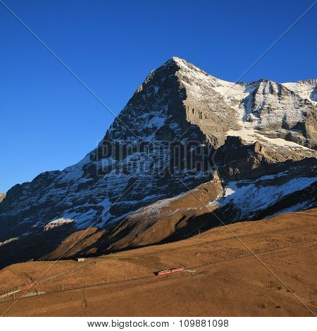 Eiger North Face And Train
