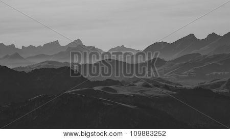 View From Mt Niesen, Swiss Alps