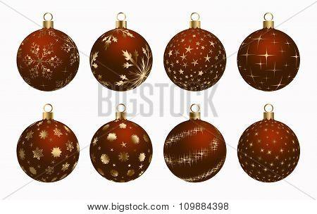 Christmas Ball Brown Gold