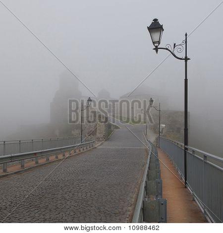 Kamenets-podolsky In Fog