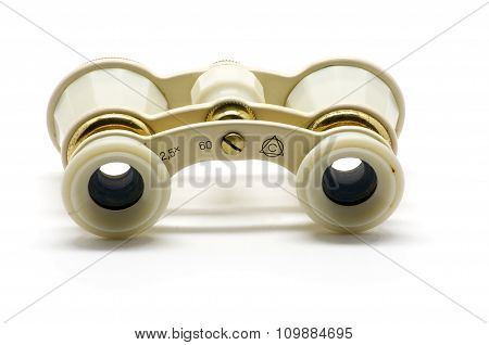 Theater White Binoculars Back