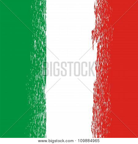 Flag of Italy. Italian Pattern.