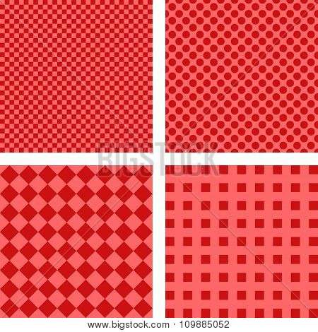 Simple red pattern set