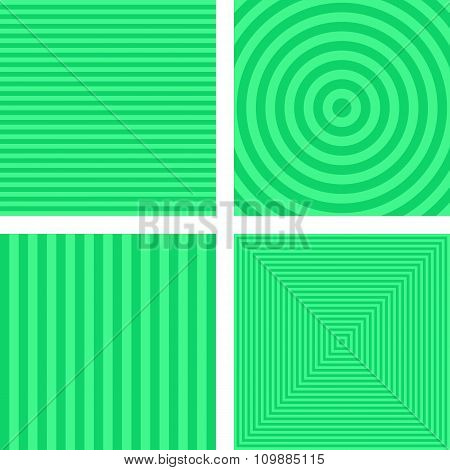 Light green simple striped background set