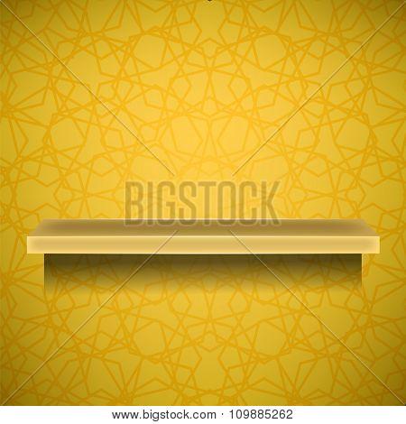 Emty Yellow Shelf