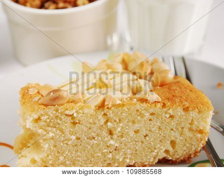 Closeup of cake piece