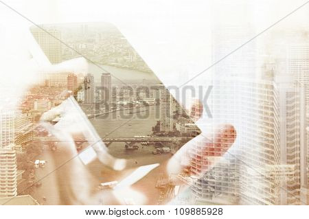 communication technology concep