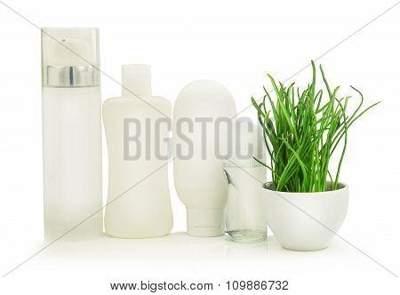 Beauty White Bottles