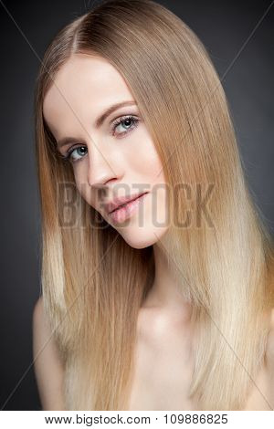 Beautiful Lady With Straight Hair