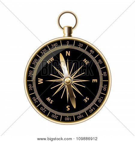 Big retro compass for travels and outdoorsman