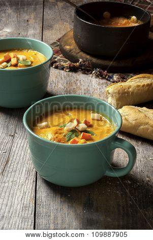 Fresh made squash soup