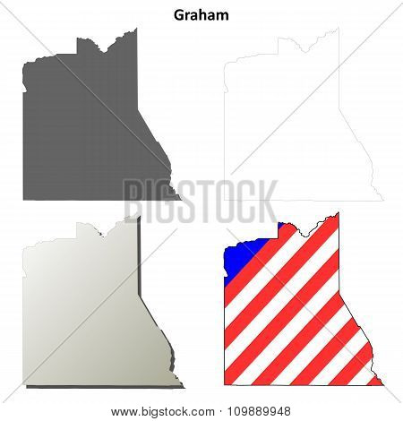 Graham County, Arizona outline map set