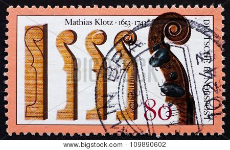 Postage Stamp Germany 1993 Mathias Klotz, Violin Maker