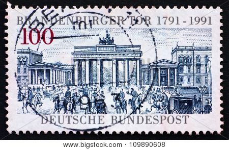 Postage Stamp Germany 1991 Brandenburg Gate