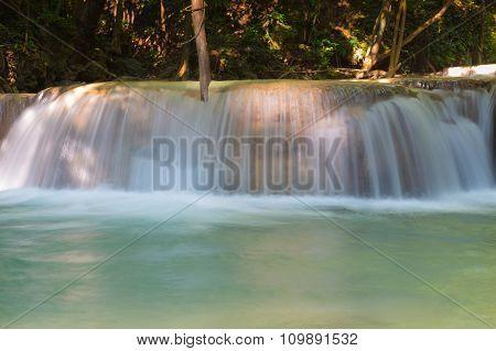 Close up stream waterfalls