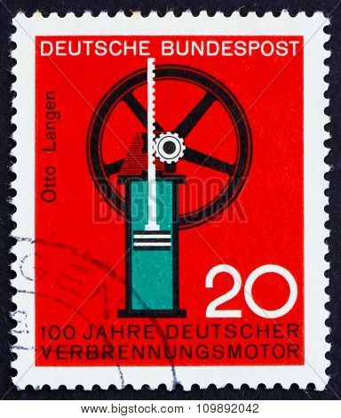 Postage Stamp Germany 1964 Internal Combustion Engine