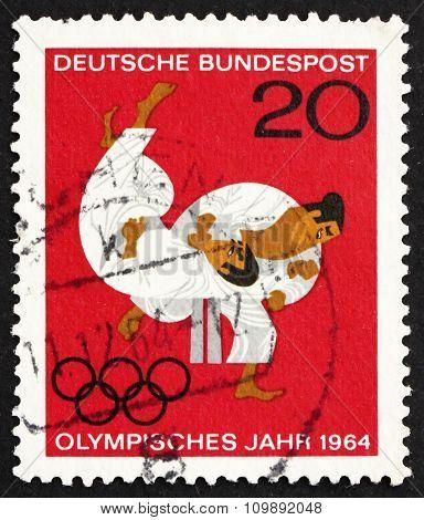 Postage Stamp Germany 1964 Judo, Olympic Sport