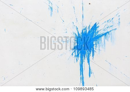 Blue Blot On The Wall