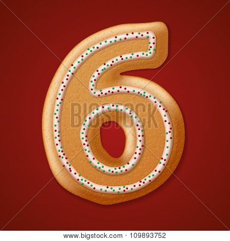 Christmas  cookies  numbers. Vector illustration