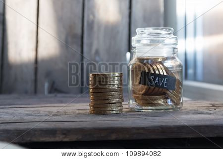 Money In The Glass Jar
