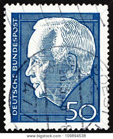 Postage Stamp Germany 1967 Heinrich Lubke