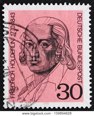 Postage Stamp Germany 1970 Friedrich Holderlin