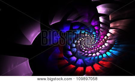 Coiled Sacred Spiral To Infinity Illustration
