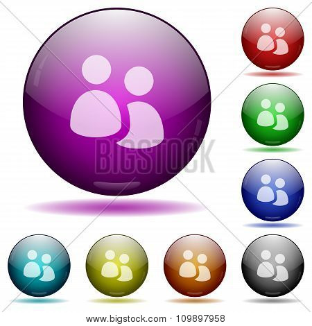 User Group Glass Sphere Buttons