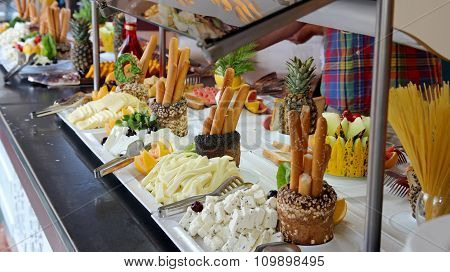Breakfast Buffet In Luxury Restaurant